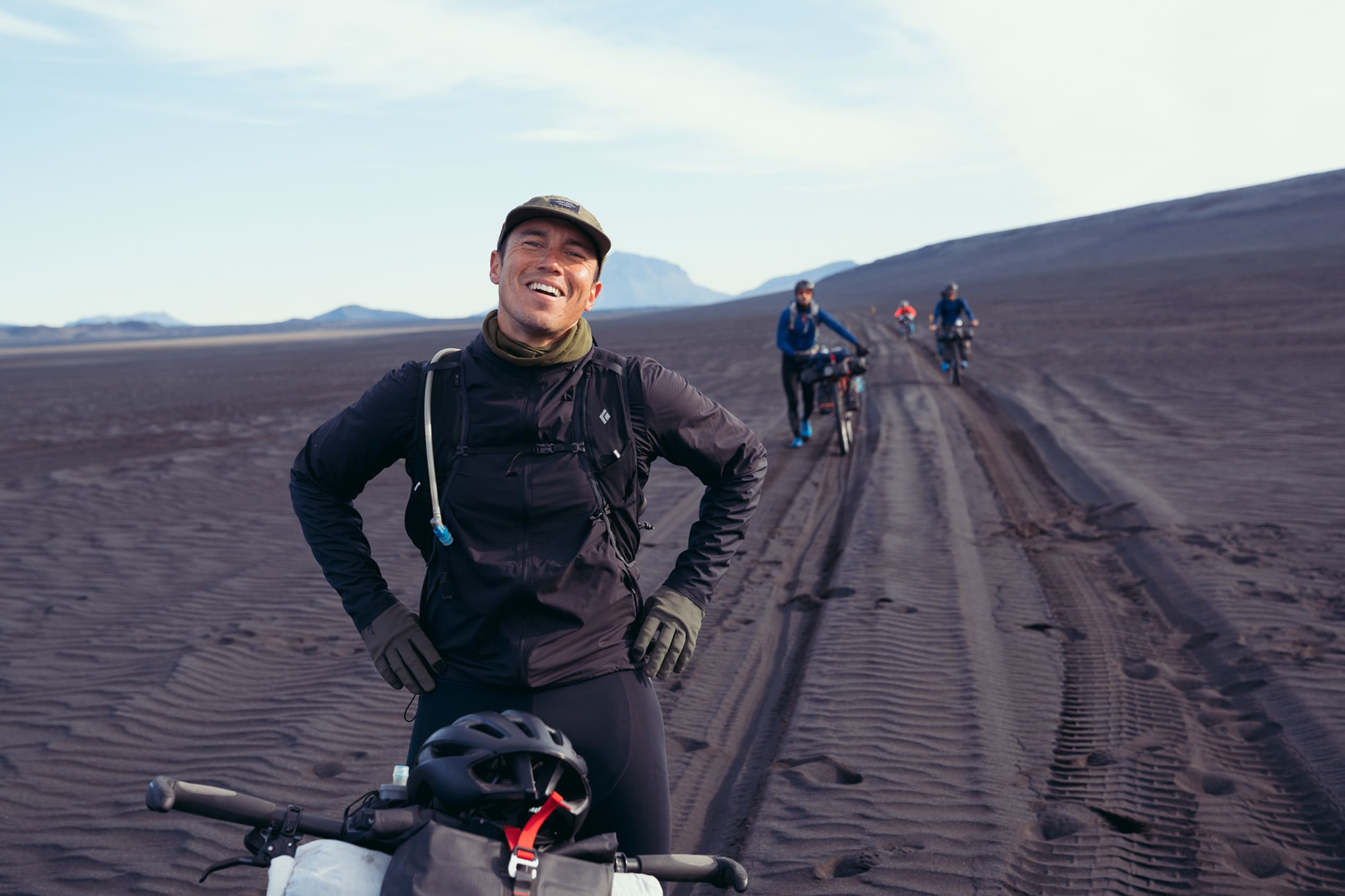 Chris Burkard pictured during his bikepacking ride across Iceland