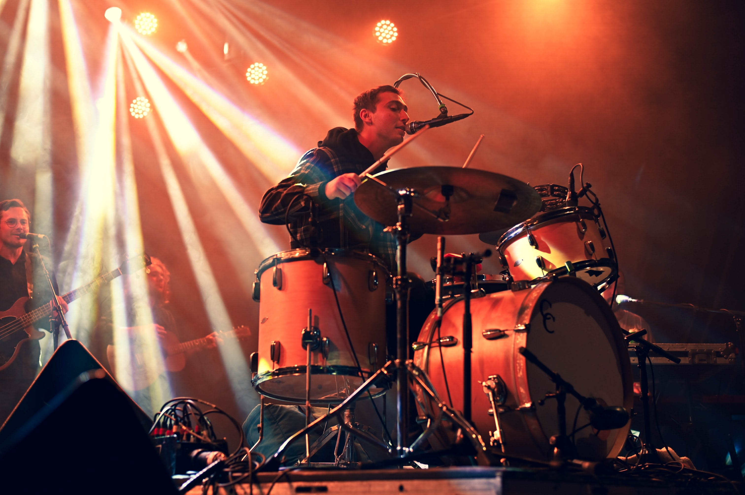 The drummer from Whitney performing at the Reykjavik Art Museum as part of Iceland Airwaves 2019