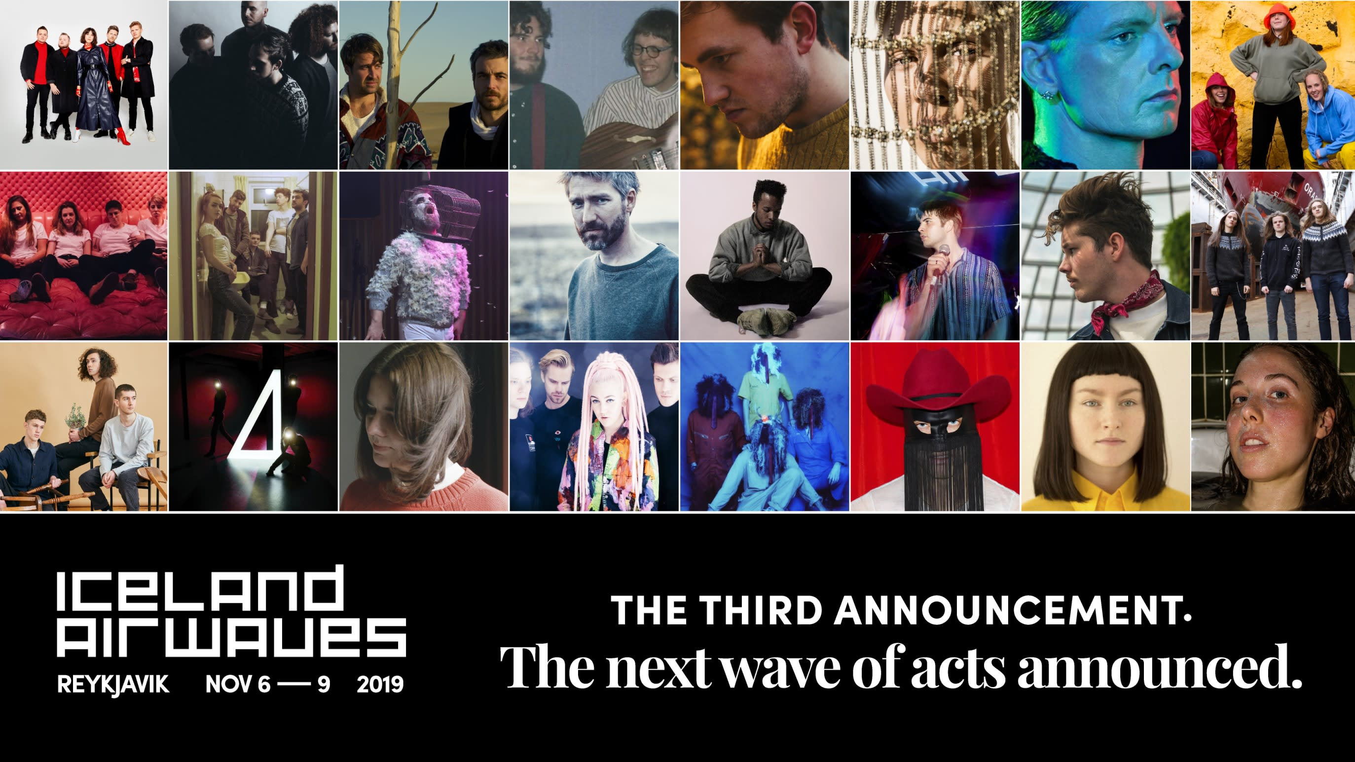 The poster for the third Iceland Airwaves 2019 lineup announcement