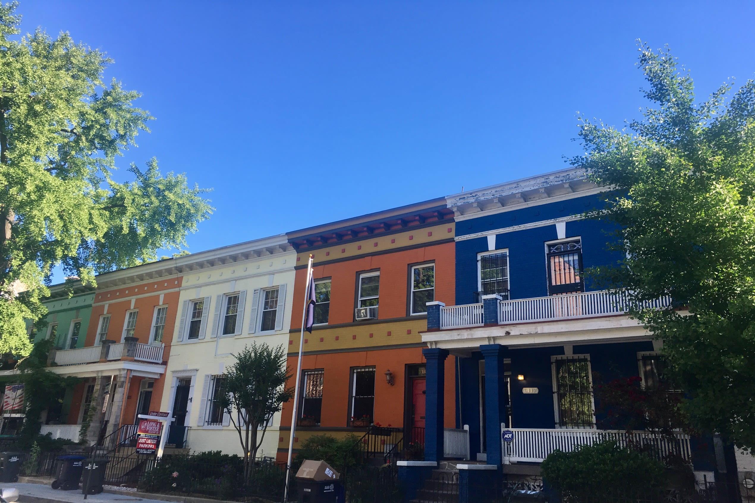 A street scene of Columbia Heights in Washington DC