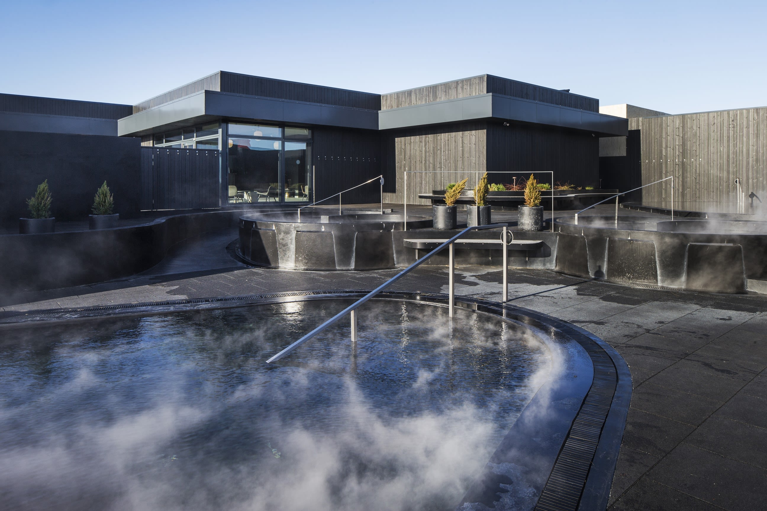 Krauma spa in West Iceland has several warm pools to choose from