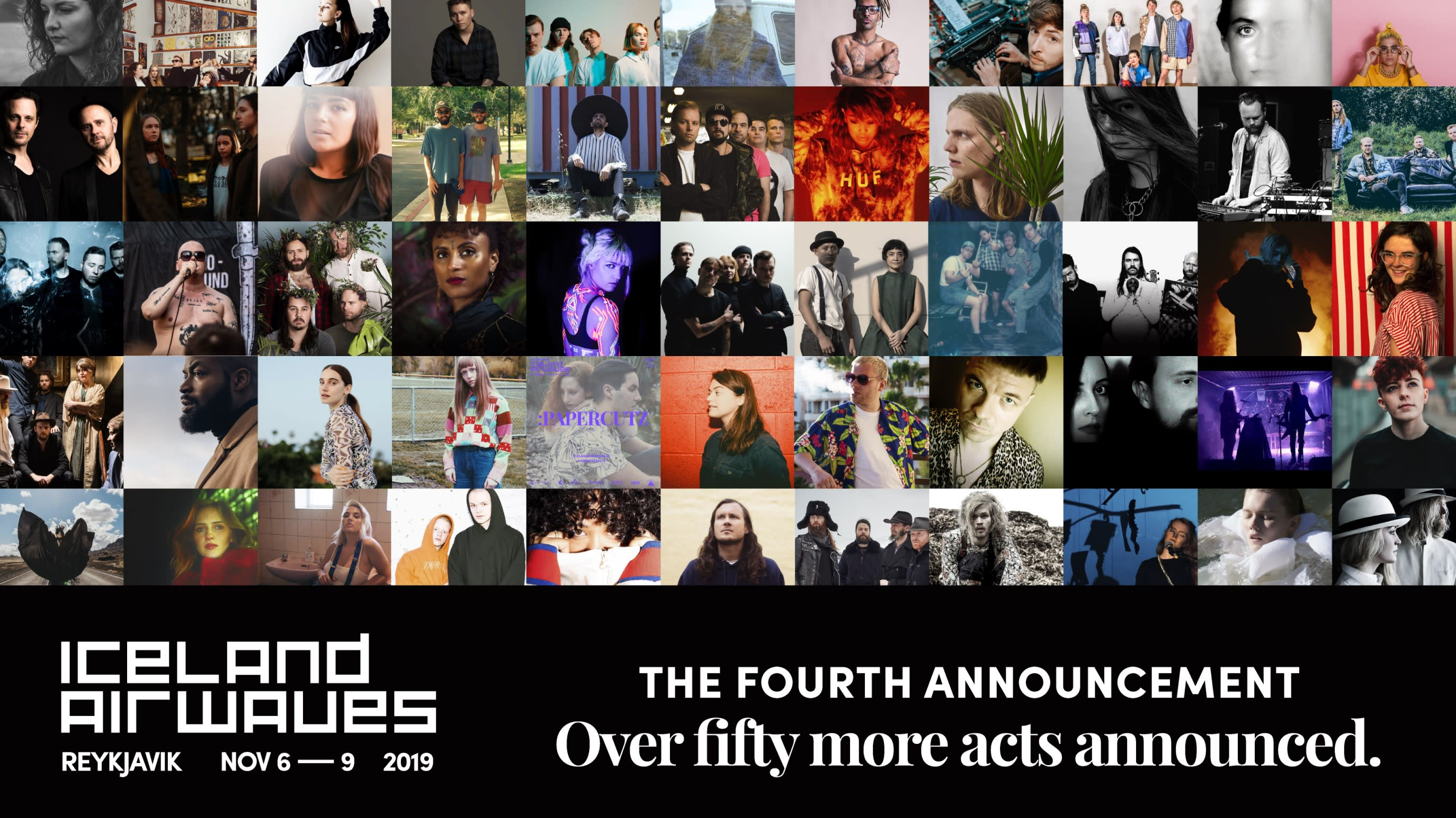 Iceland Airwaves 2019 fourth announcement poster